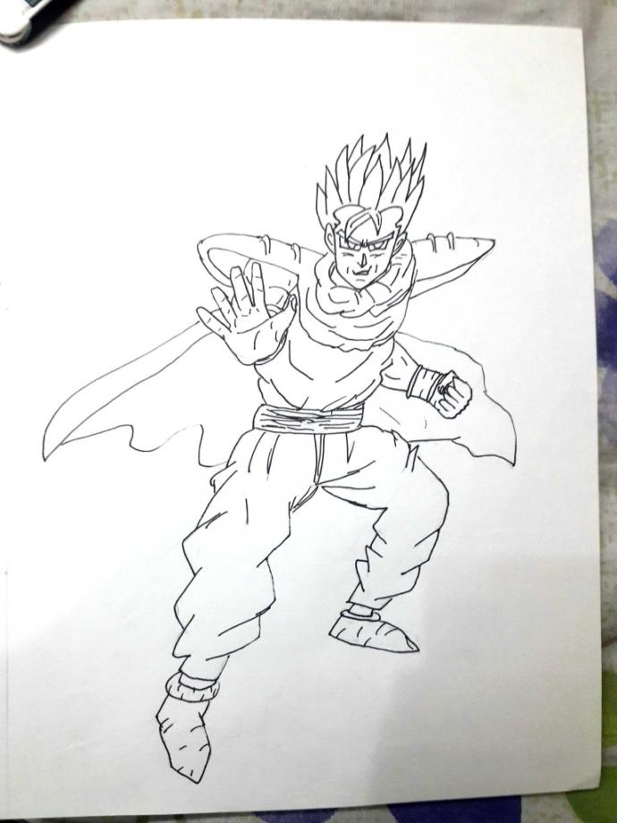 Does this artwork look good enough? This is adult gohan in piccolo's outfit.?