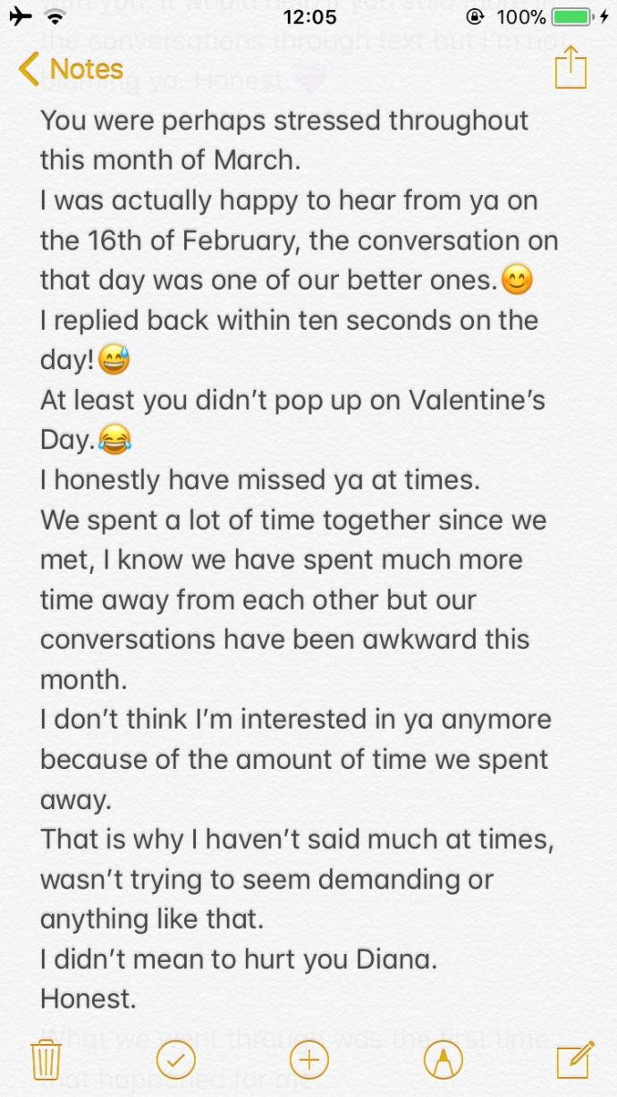 Girls.. Is this a good break up text? Is everything really my fault when I'm just done? Long text answer pls don't waste your time?