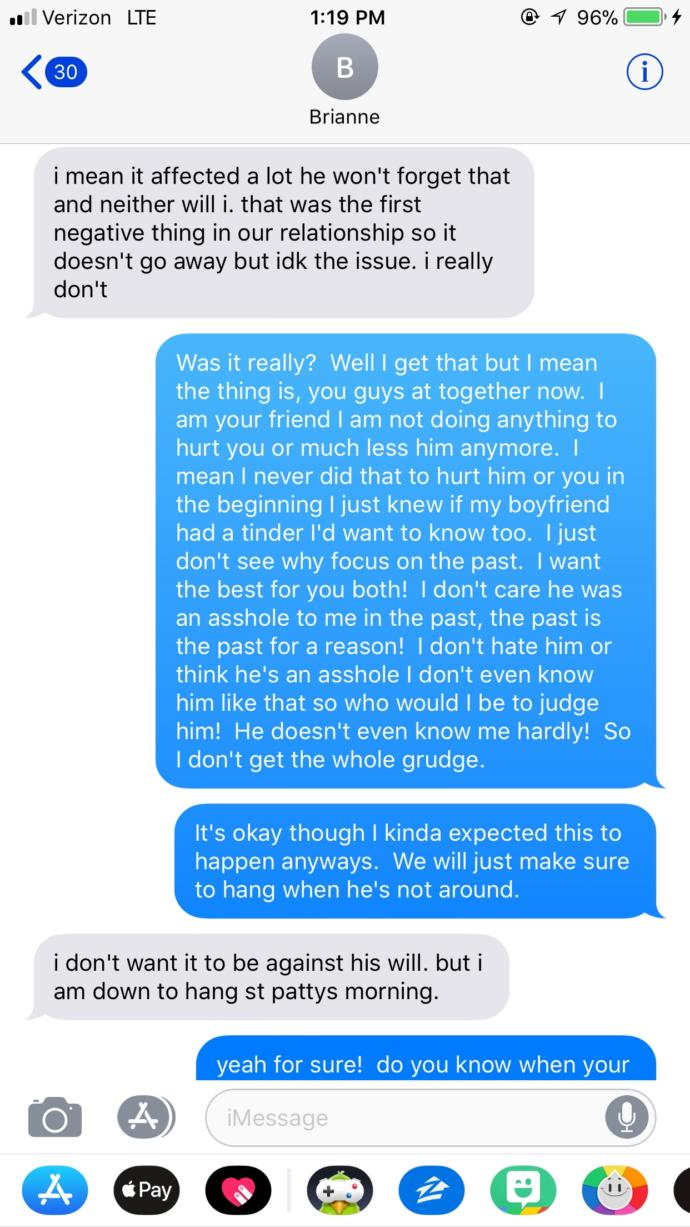 My friends boyfriend hates me?  For a stupid reason?  What do I do?
