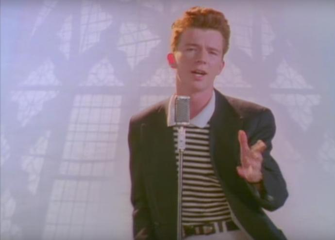 Rick Astley is never gonna…?