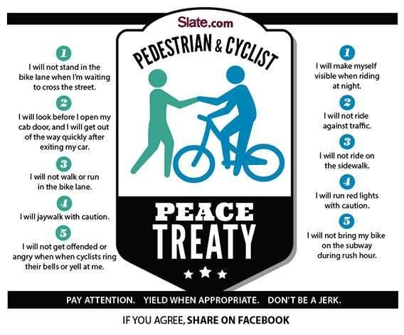 Your thoughts on the cyclists vs pedestrians vs  cars??