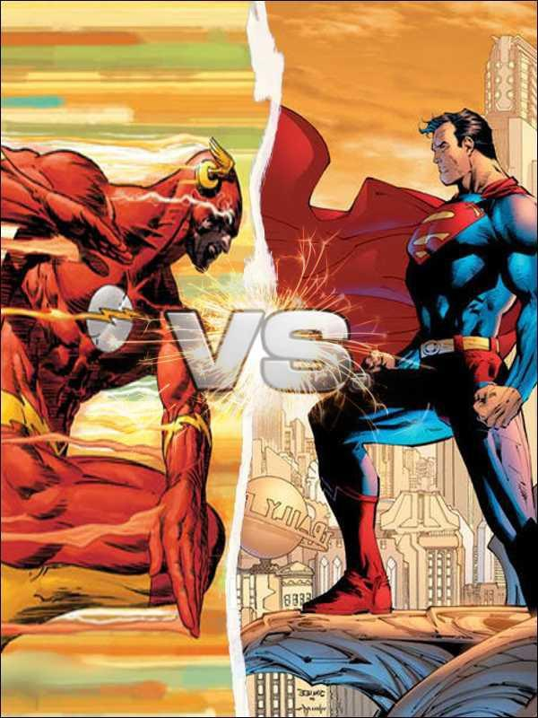 Is superman faster than Flash? In the justice league movie superman could easily catch up to the flash while he went to save the civilians?