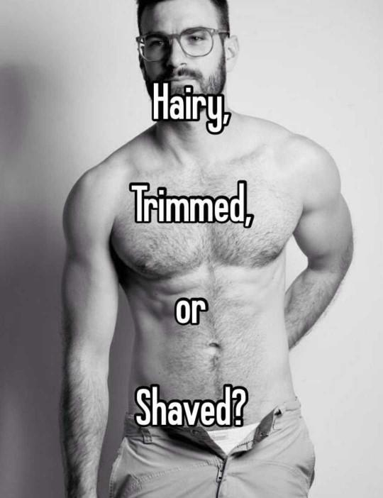 Do you like the upper body trimmed, shaved or completely natural??