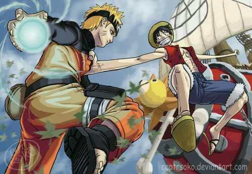 Uzumaki Naruto and Monkey.D.Luffy...who would win in a fight??