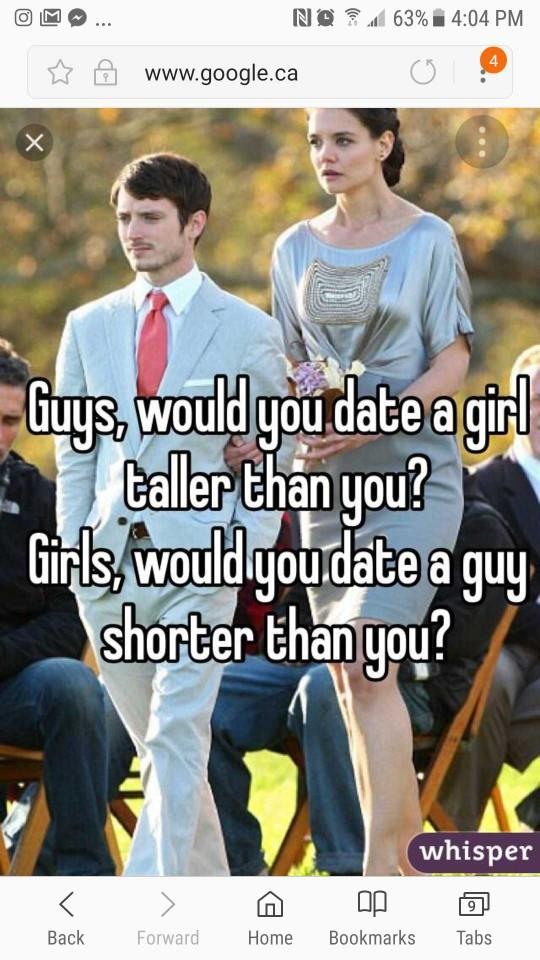 Would you date someone taller than you??