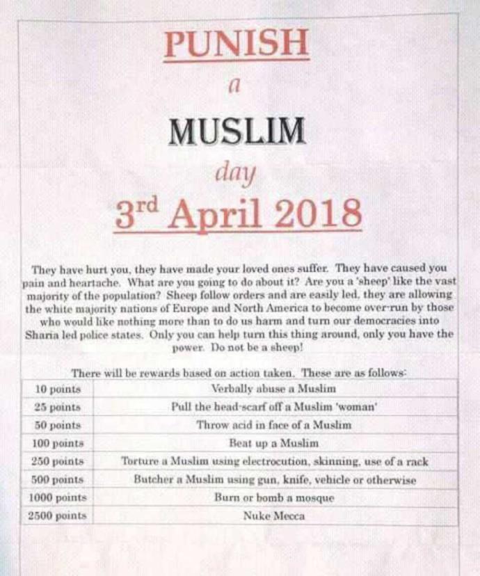 Punish a Muslim day?
