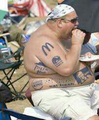 Should there be a requirement to include obese people in the fast food commercials??