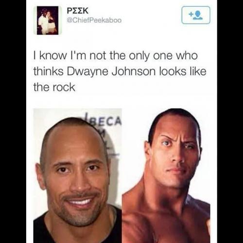 Do you think Dwayne Johnson looks like The Rock?