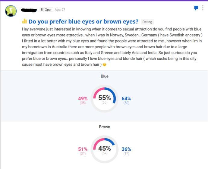 Why do some people prefer brown eyes?