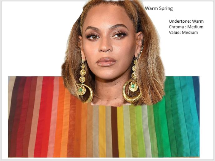 What are the best colors for Beyonce?
