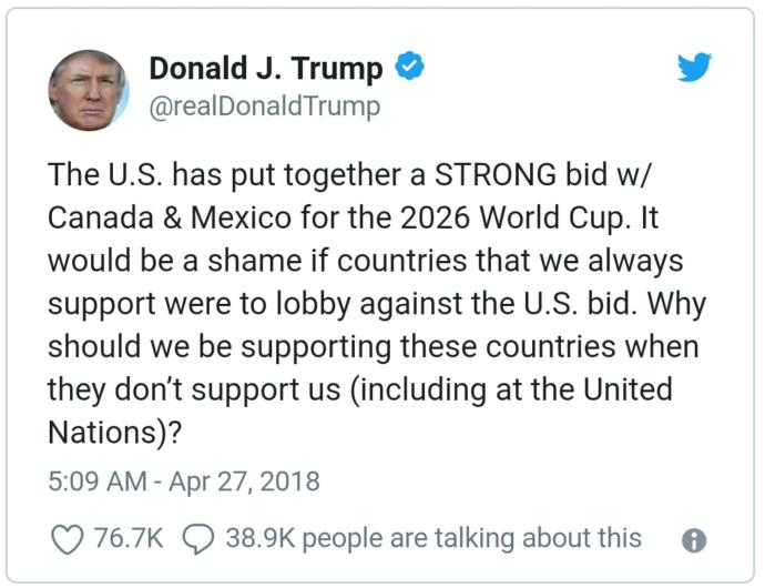 Why Donald Trump doing politics in Sports? What FIFA is doing?