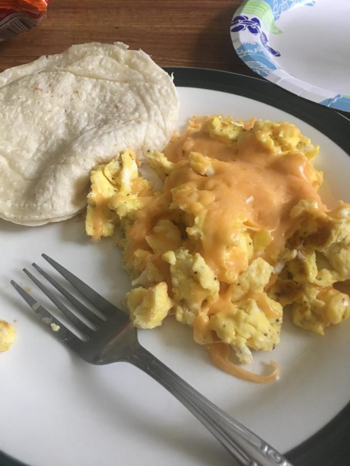 Rate my cheesy eggs?