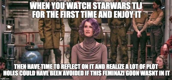 Are the new Starwars movies an SJW wet dream?