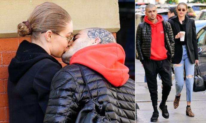 Zayn Malik and Gigi Hadid were spotted kissing and are reportedly back together. What's your reaction?