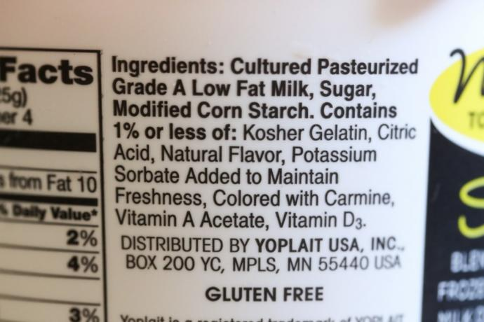 Do you read the labeling (ingredients) on the food products when you do your shopping in the supermarket?