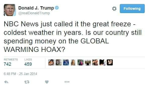 Your opinion about Trump denying climate change?