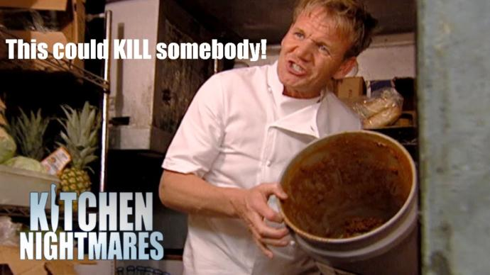 What do you think Chef Gordon Ramsey says when he goes down on a woman?