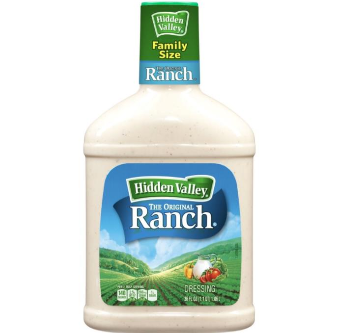Is it bad to go through 1 bottle of ranch a week?