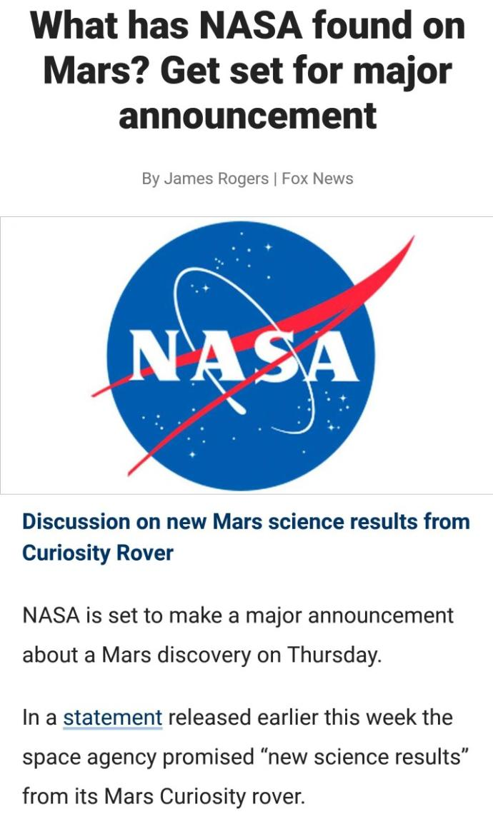 What do you think about NASA doing research on Mars?