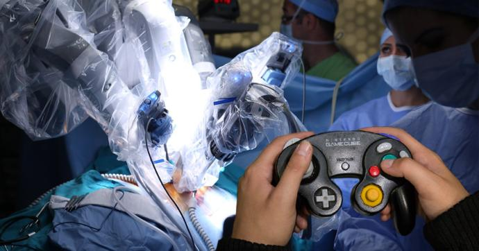 How would you feel if you had to get an operation and before they gassed you you saw the surgeon get out a GameCube controller?