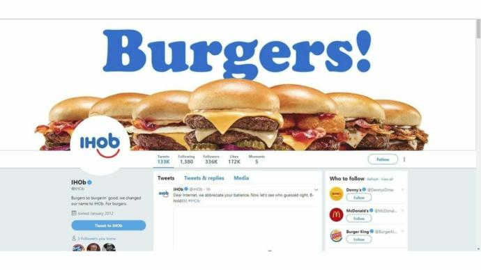 What do you think of the Marketing campaign of IHOP changing to IHOB over burgers?