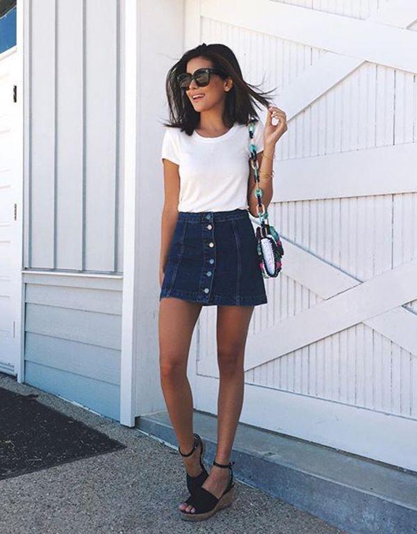 Guys, girls in denim skirts are hot or nah?