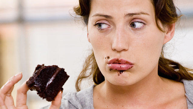 How do you eat cake?