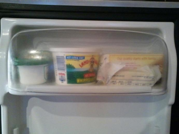 GaGers, do you actually keep butter in the butter compartment on the inside of your refrigerator door?