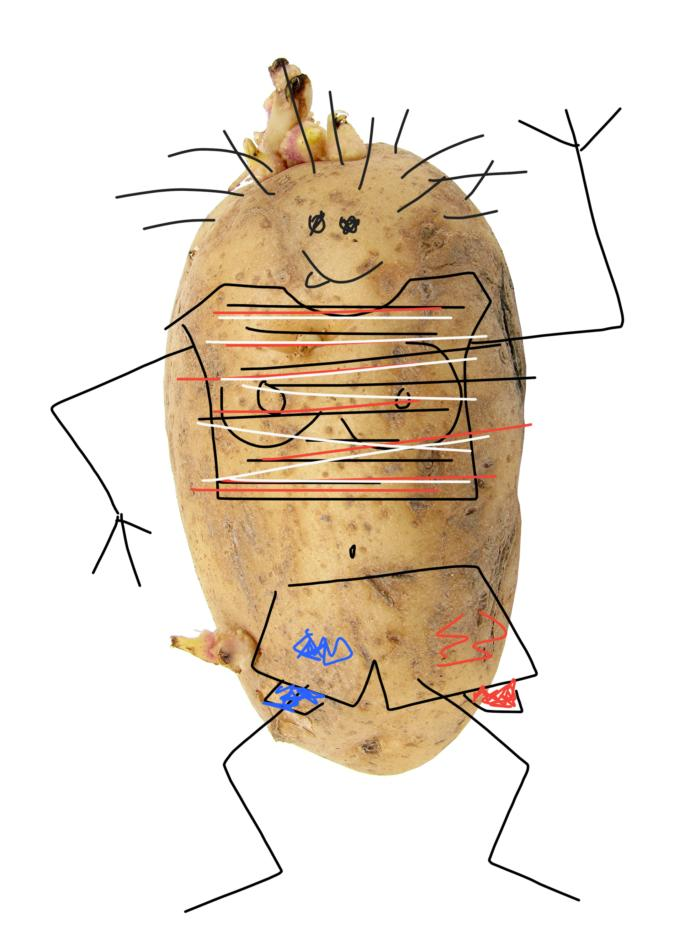 Should I tell this girl I want to take a bite out of her potato body?