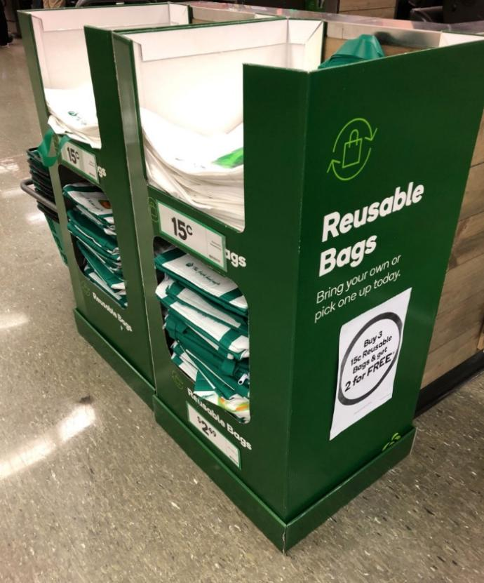Supermarket bans plastic bag to help environment, charges for reusable tote bags: Green or greedy, your thoughts?