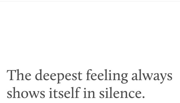 Is this why guys may sometimes go silent, because they feel too much for you?