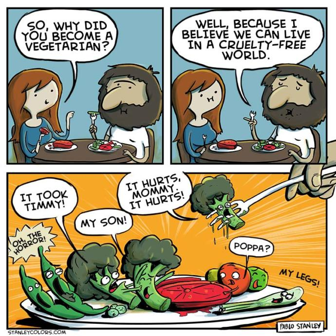 How come vegetarians are sooo cruel to vegetables?