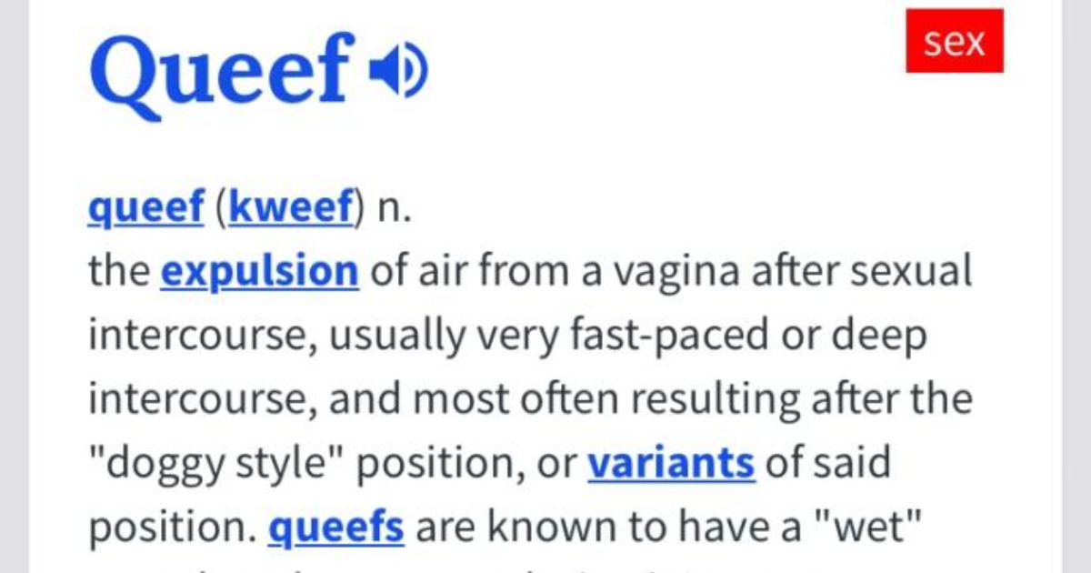 Queef after sex