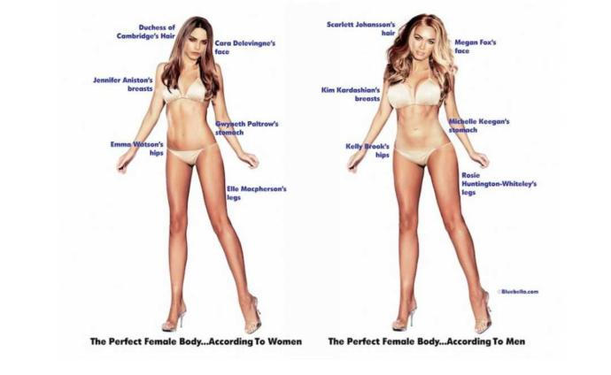 Do you think men and women have a significantly different idea of what an attractive woman looks like?