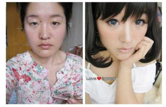 How would you react if you thought a girl was pretty until she removed the make up?