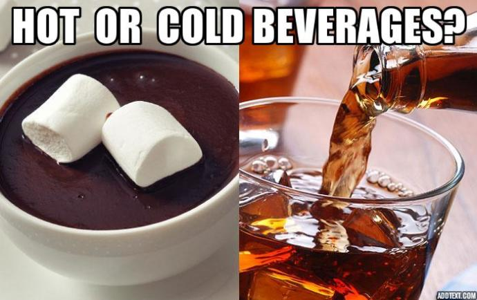 Do you mostly drink hot or cold beverages?