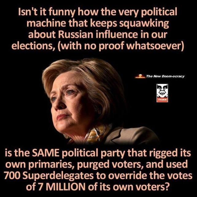 What evidence is there that the Russians interfered in the US 2016 elections or that Trump is linked?