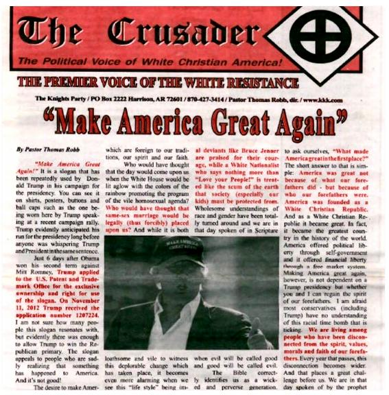 Is The Ku Klux Klan Going to Make America Great Again For Donald Trump?