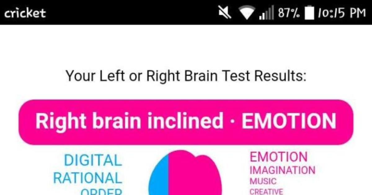Left brain inclined digital