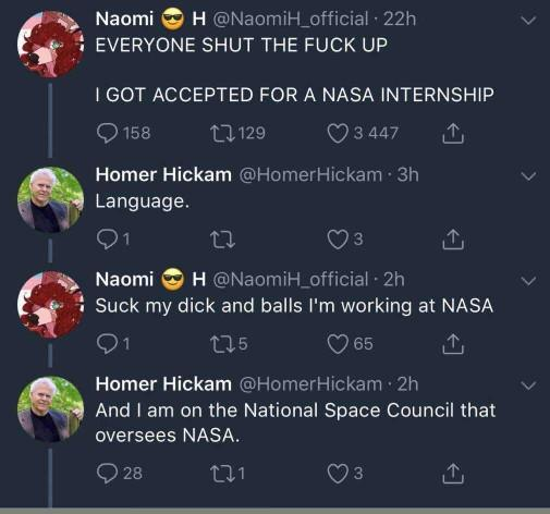 Furry got fired from NASA after this encounter. Right decision?