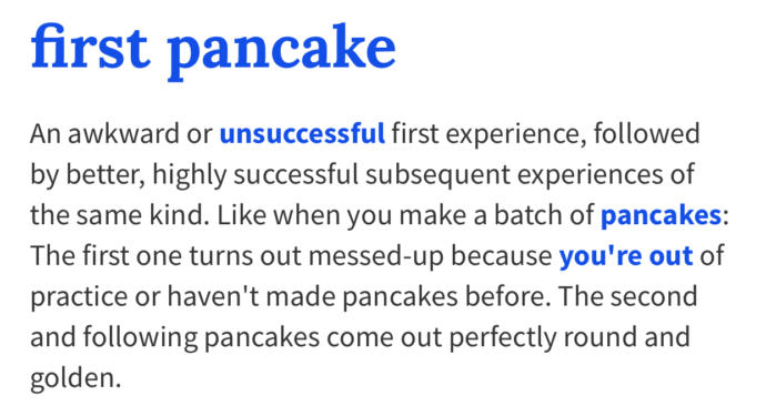 The first pancake theory