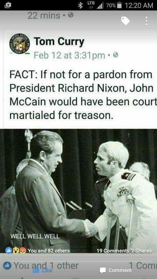 Was John McCain (aka Songbird) a traitor to the United States?