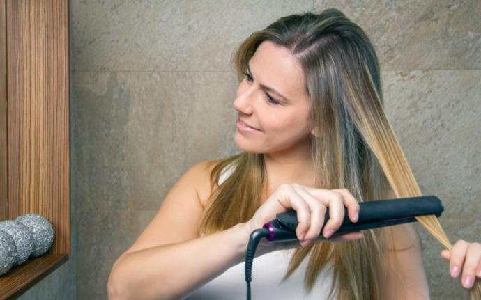 Girls, how often do you straighten your hair with a flat iron?