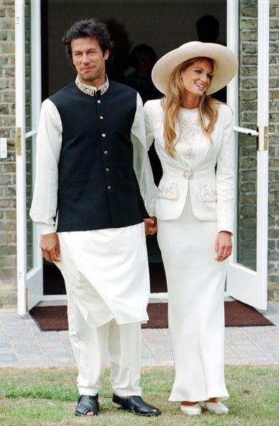 Pakistan's prime minister, former cricket captain Imran Khan with Jemima