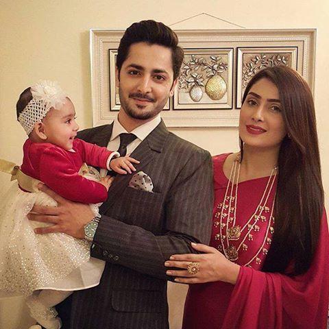 Pakistani celebrity with baby girl
