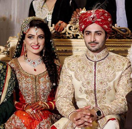 Pakistani celebrity couple- Aiza and Danish