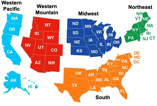 Best Region to live in the USA?