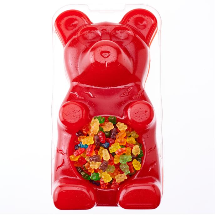 Someone gives you this giant 27 lb gummy bear with gummy bears in it. Would you accept it?
