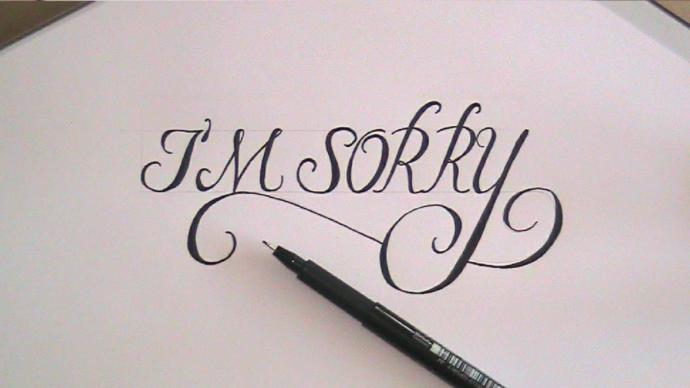Do you ever apologize , even if it's not your fault?