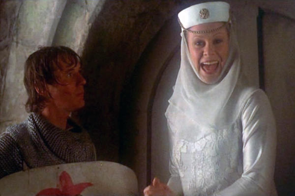 Has anyone seen/remember the girl scene in Monty Python and the holy grail?
